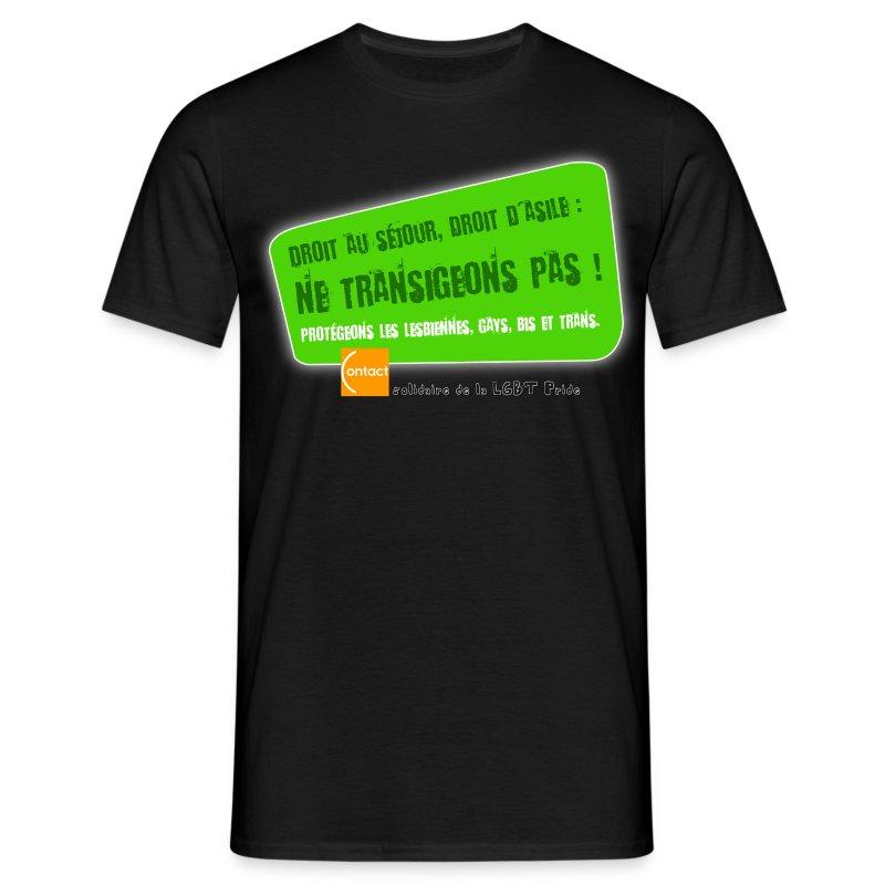 LGBT Pride Lyon 2010 - Droit d'asile - T-shirt Homme