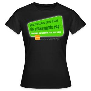 LGBT Pride Lyon 2010 - Droit d'asile - T-shirt Femme