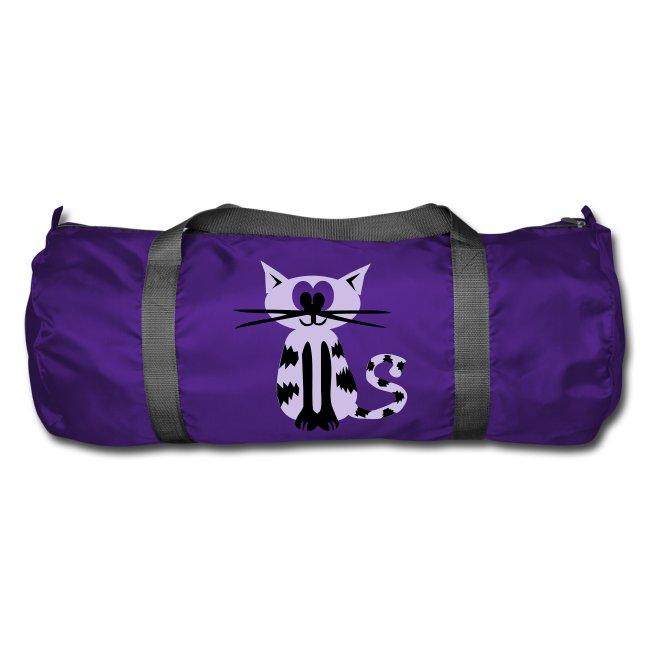 """Sporttasche """"Katze"""" Lila"""