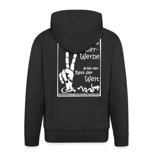 Kapuzenjacke (schwarz) - Männer Premium Kapuzenjacke