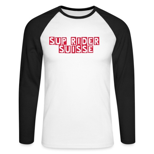SUP RIDER SUISSE - T-shirt baseball manches longues Homme