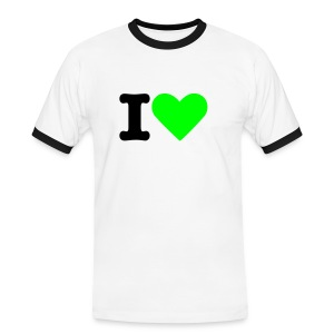T-Shirt BDSU Alumni Logo 'I LOVE' - Männer Kontrast-T-Shirt