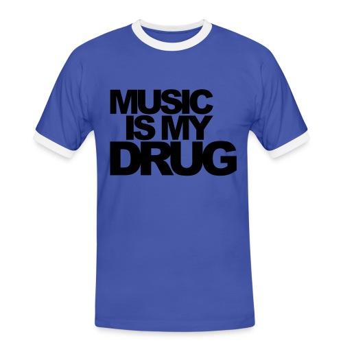 music - T-shirt contrasté Homme