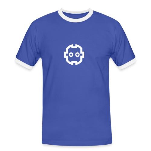t shirt logo blu - Maglietta Contrast da uomo