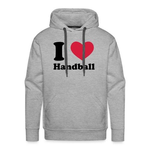 Grau meliert Handball  Pullover - Männer Premium Hoodie
