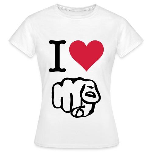 I Love You Point Plain Girls  - Women's T-Shirt