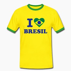 T-shirt Supporter Homme I Love Brésil