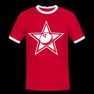 T-Shirts ~ Männer Kontrast-T-Shirt ~ bowlingstar