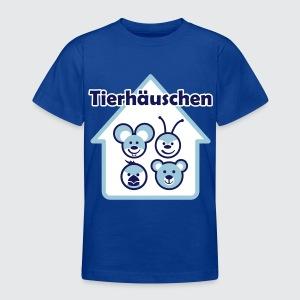 Tierhäuschen (blau) - Teenager T-Shirt