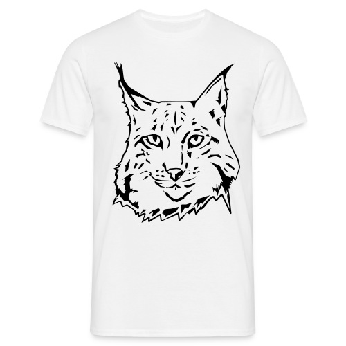 MENS LYNX WHITE T-SHIRT - Men's T-Shirt