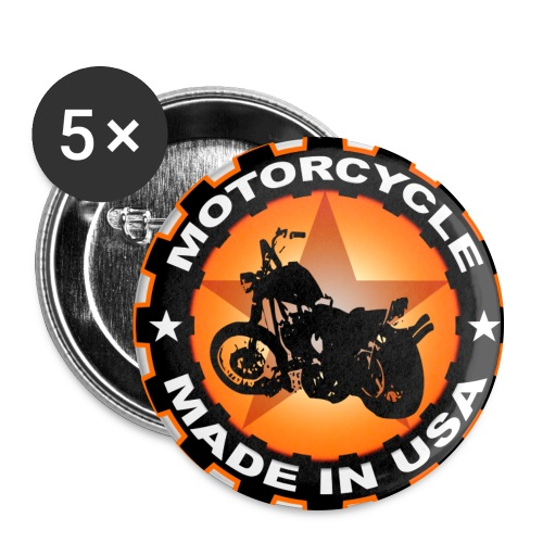 Motorcycle - made in U.S.A button - Buttons large 2.2''/56 mm(5-pack)