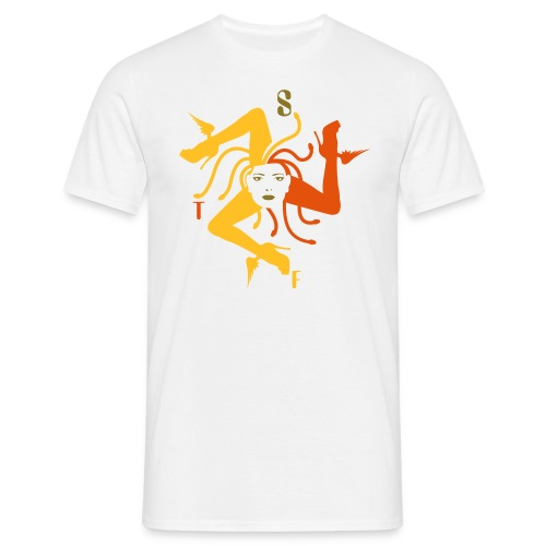 Trinacria homme Or Blanc - Men's T-Shirt