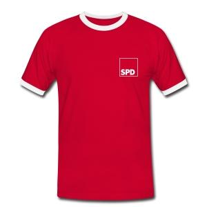 SPD Fußball Fanshirt - Männer Kontrast-T-Shirt