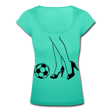 Aqua green Light green White/black Soccer - Woman - Legs - High Heels T-Shirts T-Shirts T-Shirts