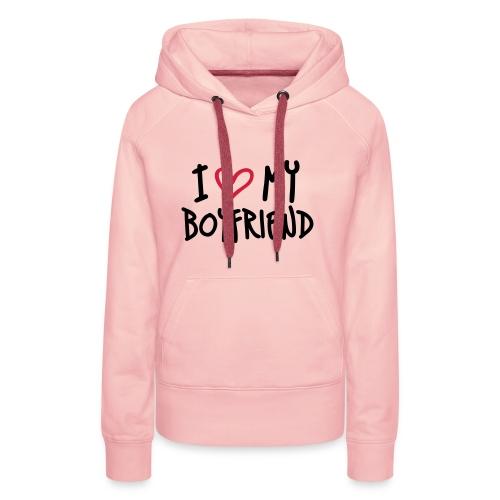 Hellrosa I Love My Boyfriend Pullover - Frauen Premium Hoodie