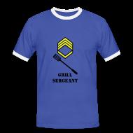 T-skjorter ~ Kontrast-T-skjorte for menn ~ Grill sersjant