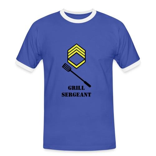 Grill sersjant - Kontrast-T-skjorte for menn