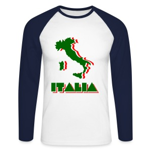 Italia - Men's Long Sleeve Baseball T-Shirt