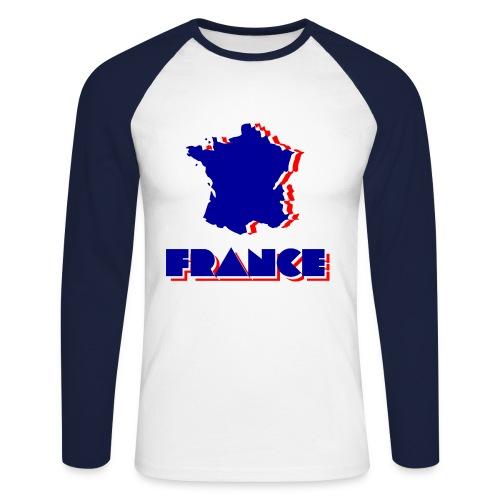 France - Men's Long Sleeve Baseball T-Shirt