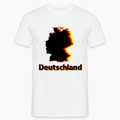 White Deutschland Men's T-Shirts