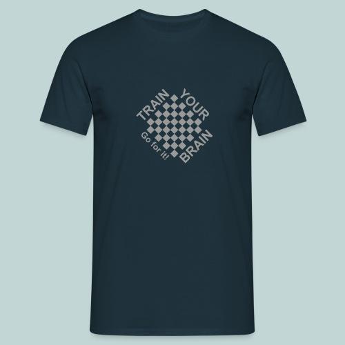 Train brain - go for it 1 - Männer T-Shirt