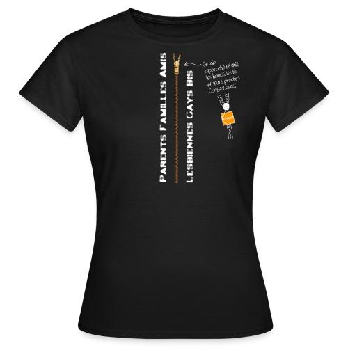 Homos et Proches unis Zip - T-shirt Femme