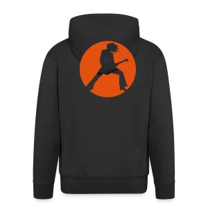 guitarist tshirt - Men's Premium Hooded Jacket