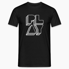 Black Press Play Men's T-Shirts