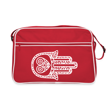 Red/white Hand of Fatima Bags