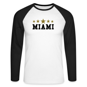 MIAMI - T-shirt baseball manches longues Homme