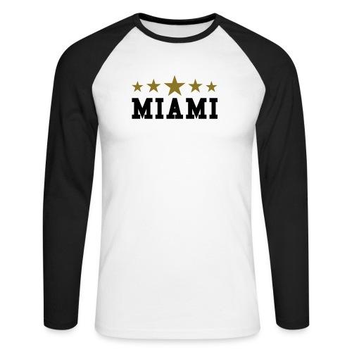 MIAMI - T-shirt baseball manches longues Homme
