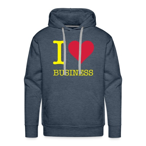 I love business - Sweat-shirt à capuche Premium pour hommes