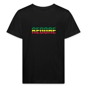 schwarzes Kinder-T-Shirt Reggae in Bio-Qualität - Kinder Bio-T-Shirt