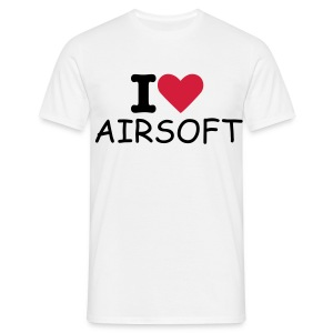 I Love Airsoft Whit - T-shirt Homme