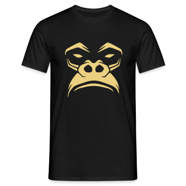 Black Grumpy Gorilla Men's T-Shirts