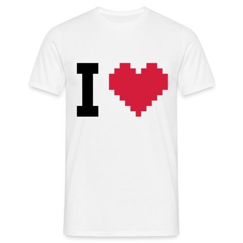 Pixel Love - T-shirt herr