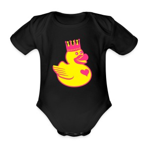 Baby Body Ente Quitschente Rubber Duck - Baby Bio-Kurzarm-Body