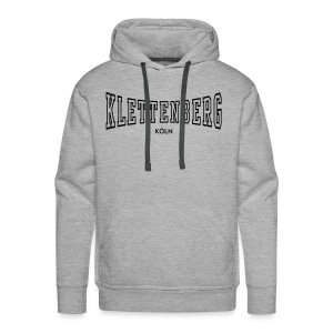 Klettenberg Outline Kapuzenshirt Farbwahl (schwarzer Druck) - Männer Premium Hoodie