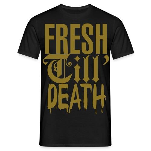 Fresh Till Death metallic-gull - T-skjorte for menn