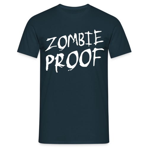 Mannen t-shirt klassiek Zombie proof - Mannen T-shirt