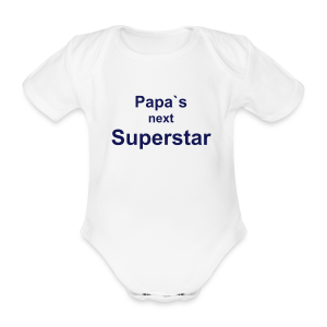 Papa`s next Superstar - Body  - Body bébé bio manches courtes
