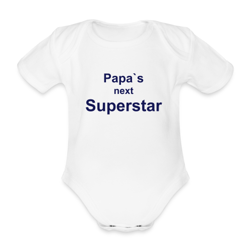 Papa`s next Superstar - Body  - Baby Bio-Kurzarm-Body