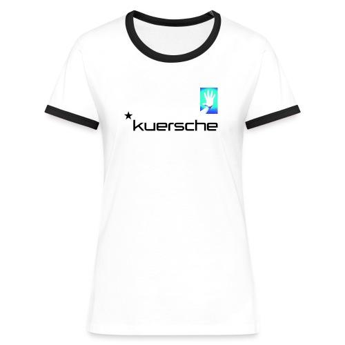 Kuersche Finger weg!    (I´m here Hand) - Frauen Kontrast-T-Shirt