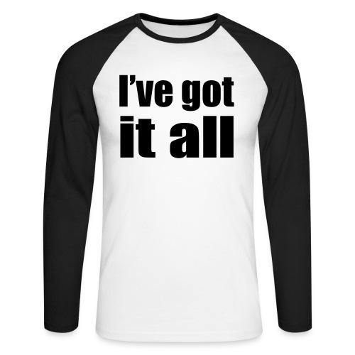 I've Got it All - Mannen baseballshirt lange mouw