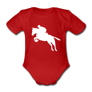 Show jumping, jumping horse, horse Baby Bodysuits