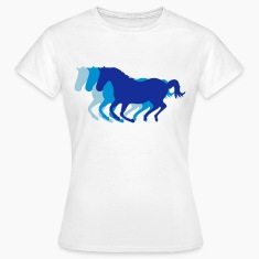 White Three horses at a gallop - Horse riding - dressage horses riding horse race Women's T-Shirts