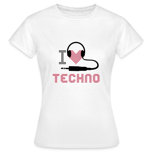 Techno headhones - Women's T-Shirt