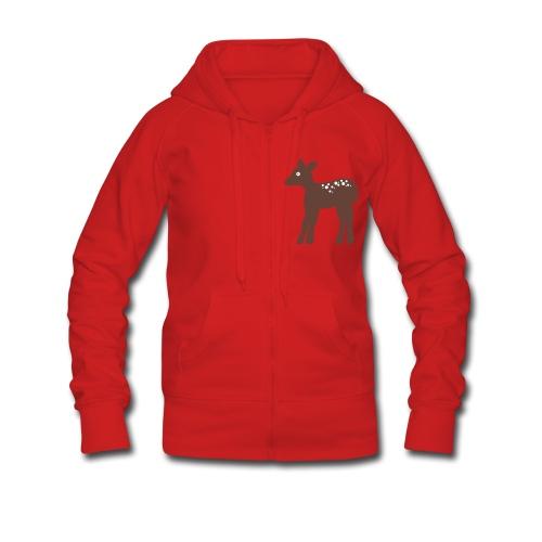 Rehkitz-Jacke - Frauen Premium Kapuzenjacke