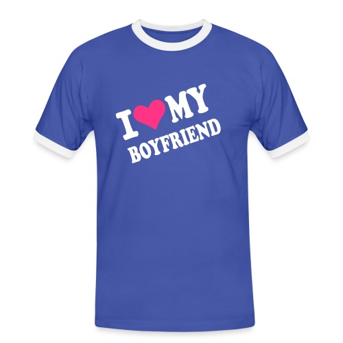 I Love My Boyfriend - T-shirt contrasté Homme
