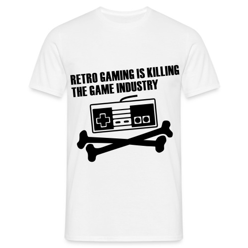 Retro gamer - Mannen T-shirt